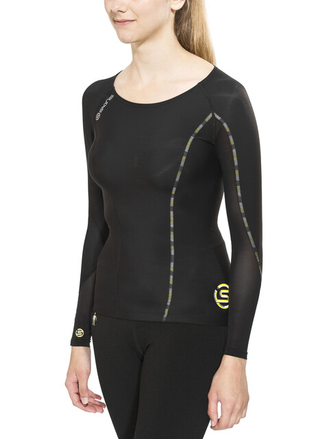 Skins DNAmic Long Sleeve Top Women black/limoncello